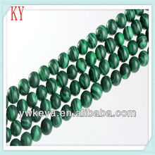 wholesale natural green malachite stone loose beads
