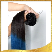 Shangkai Fashionable Gold Supplier High Grade Clip In Hair Extensions For Black