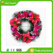Cheap Aritificial Popular Design PVC Christmas Wreath Decoration