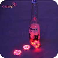 Hot Sale Led Flashing Bottle And Glass Sticker , Cup Coaster