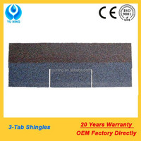 blue asphalt shingles