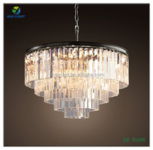 European Style oden glass 5-RING contemporary chandelier light