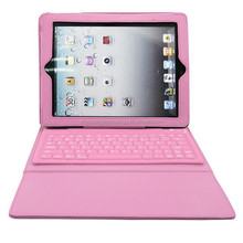 universal folding stand Flexible bluetooth keyboard PU leather case for Ipad 1