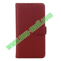New Arrival Litchi Texture Leather for lg l90 case cover with Card Slots