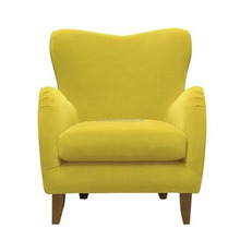 Hotel decorated armchair fresh yellow colorful armchairs YB70139