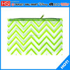 fluorescence color ripples printed new canvas wholesale pencil bag for stationery items