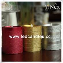 2015 Flat top moving wick luminara candles wholesale