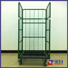 Foldable Roll Container with plastic pallet