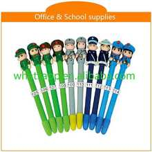 Design Cartoon Polymer Clay Ball Pen For Gifts discount ink engraved metal fountain pen