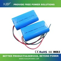 2015 hot sales ICR18650 with line 7.4v 2000MAH chargeable lithium battery
