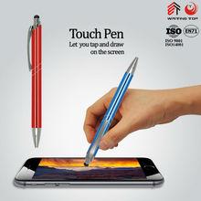 Cheap logo engraved stylus ballpoint pens
