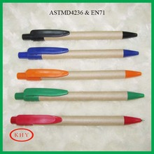 Promotional paper barrel recycled ball pen