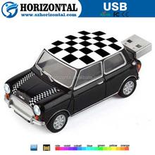 Vogue design Black and white custom car logo USB flash drive slide