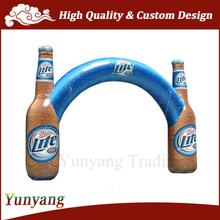 New design beer bottle shaped inflatable arch, inflatable advertising event arch