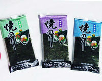 Different types of colorful packaging baked roll seaweed