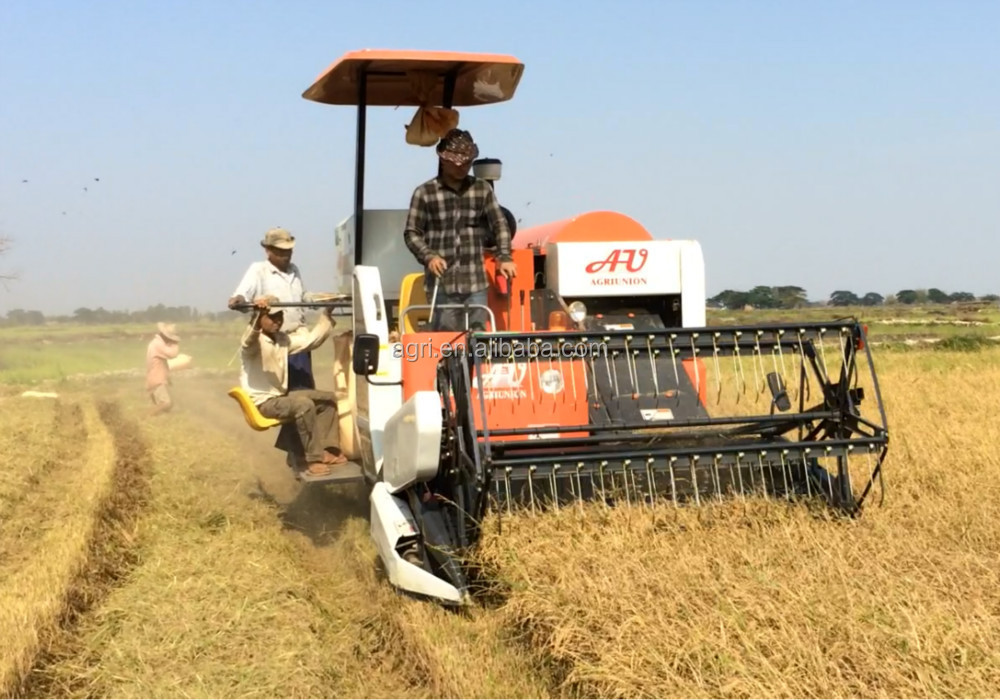 2015 Newest Rice Harvester / Rice Combine Harvester / Rice ...