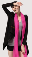 hot selling Extra Size 100% Cashmere, Rose Pink Neck Scarf Hand Tied Fringe Ends