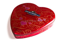 Custom heart shaped tin box for chocolates