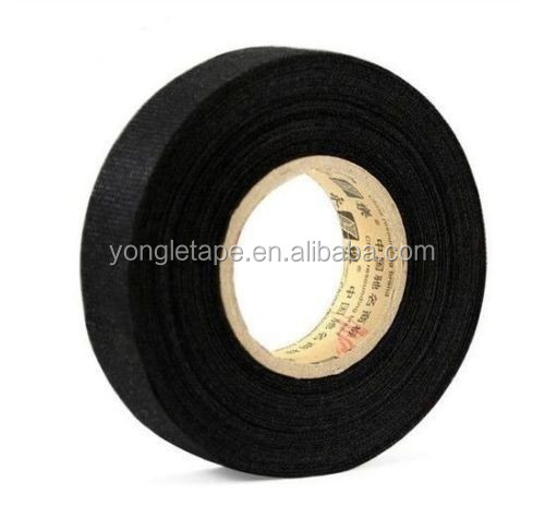 Wiring Loom Harness Adhesive Cloth Fabric Tape : Black adhesive cloth fabric tape cable looms wiring harness buy automotive wire car