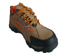 Nubuck leather upper Cemented rubber outsole with reflective tap Safety Shoes SNN4507