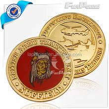 China factory gold printing Souvenir coins