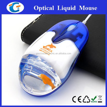 Computer accessories custom logo wired optical liquid mouse for gift