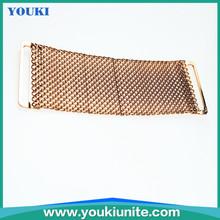 5.0cm gold color heart rhinestone buckle slider