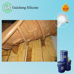 Liquid silicone for gypsum cornice mold making