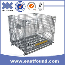 Warehouses Galvanized Steel Wire Mesh Folding Storage Cages