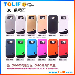Factory supply nice color phone strong protect case for I6,S6 TPU+PC cellphone back case cover