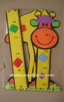 colorful eva foam giraffe growth chart