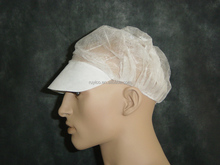 Food Processing Bouffant Round Cap With Visor
