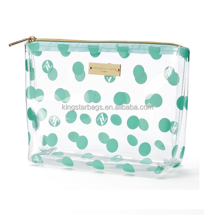 Wholesale Clear Plastic Zipper Cosmetic Bags With Private