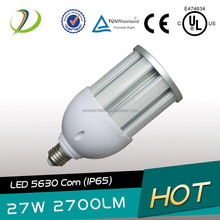 Clear milky cover outdoor 360 degree led bulb warehouse samsung 5630smd ul/ce/rohs 27w 3200lm led corn light e26 base