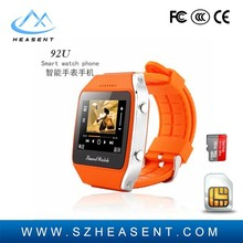 """Vogue phones 1.65"""" Capacitive touchscreen cheap hand smart watch mobile phone with bluetooth GPS Tracker"""