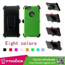 4-Piece PC & TPU Heavy Duty Case w/ Swivel Belt Clip for iPhone 6 Plus