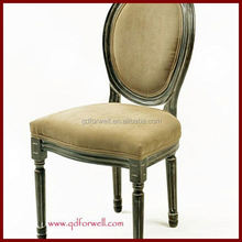 Luxury leather white side chair purple fabric louis chair french louis style dining chair
