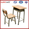 Modern multi-plywood school desk and chair set