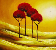 art supplies arts and crafts canvas wall art Canvas Oil Painting trees Abstract Painting sunset oil painting on canvas for home