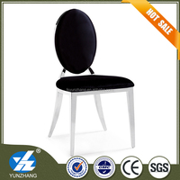 european simple 4 legs round back dining chair