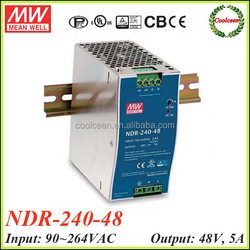 Meanwell NDR-240-48 din rail power supply switching