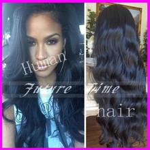2015 6A grade!!! Free shipping virgin brazilian peruvian hair front lace wig & glueless full lace human hair wigs for blac