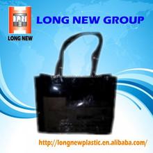 E Heat seal Custom printed clear pvc zipper bag