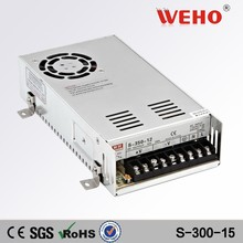 ac to dc 300w single output power supply transformer 110v to 15v