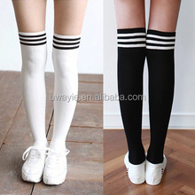 girl student school fashion sexy cotton knee high over the knee sports stocking for spring fall winter middle normal thick