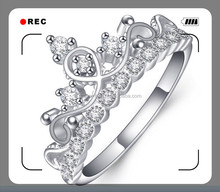 2015 fashion design high quality 925 silver cooper brass alloy plating gold 925 silver diamond ring