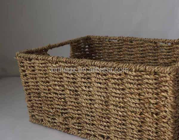 Fabrication De Panier Tissé : Rectangulaire seagrass tiss? panier artisanat en osier id