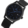 Hot Alibaba Express black Woven band IP Stainless Steel Band date Watches
