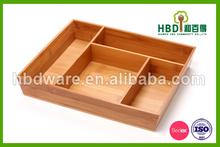 Eco- ambiente de bambú de madera bandeja de gadget/organizador