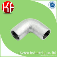 galvanized malleable iron clamp pipe elbow
